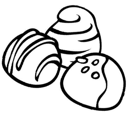 Chocolate Truffles Cookie Coloring Page | Cookie | Pinterest ...