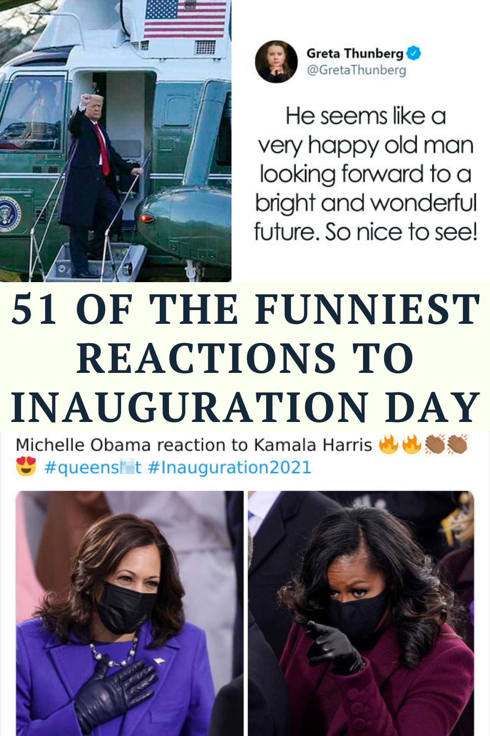 51 Of The Funniest Reactions To Inauguration Day In 2021 Extremely Funny Jokes Some Funny Jokes Funny Laugh