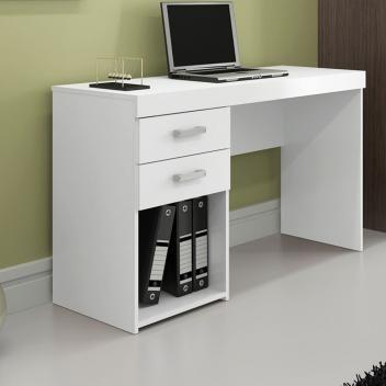 Homeoffice Escrivaninha Mesa Para Computador 2 Gavetas Politorno