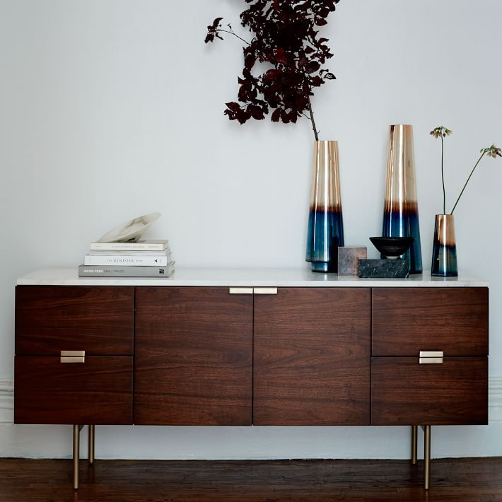Delphine Buffet This Marble Topped Seems To Float On Slim Bronze Legs From Dining Room