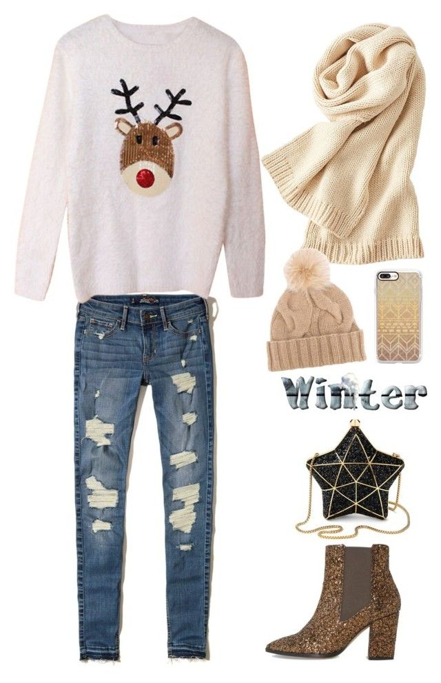 """""""Christmas vibes"""" by isha-saxena on Polyvore featuring Hollister Co., Dune, Aspinal of London, Casetify, Uniqlo and Loro Piana"""
