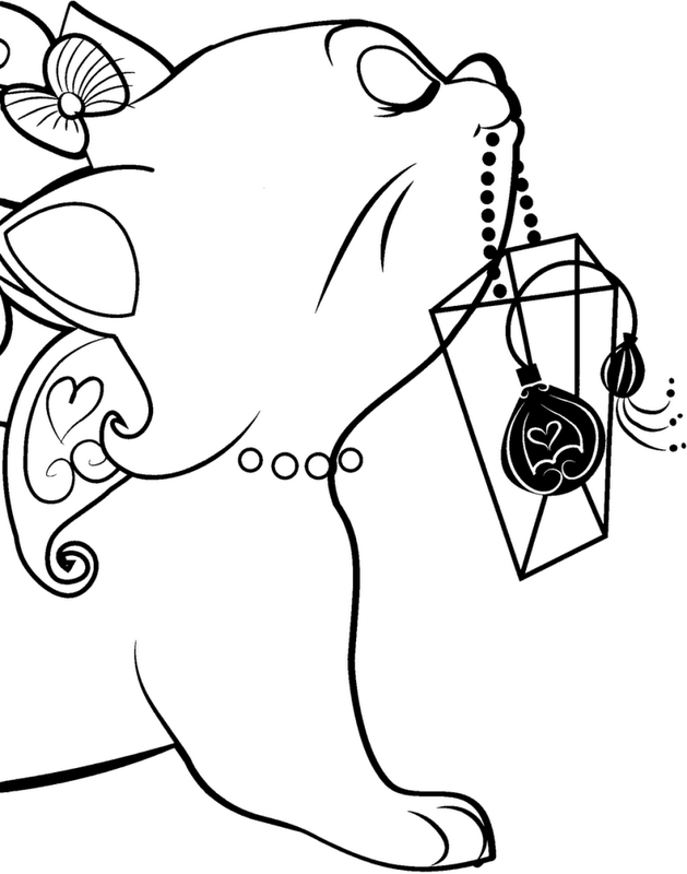 Cat Coloring Page Image By Kristina Hanes On Coloring Pages