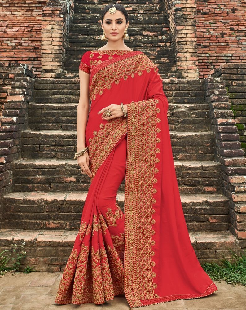 7103b46a43a Indian Designer Saree Sari Traditional Indian Ethnic Embroidered Bollywood  Party  saree  sari  designer  wedding  embroidered  embellished  traditional  ...
