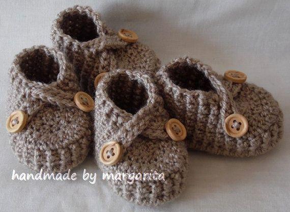 Bebé gemelos zapatos de ganchillo para recién por margarita779