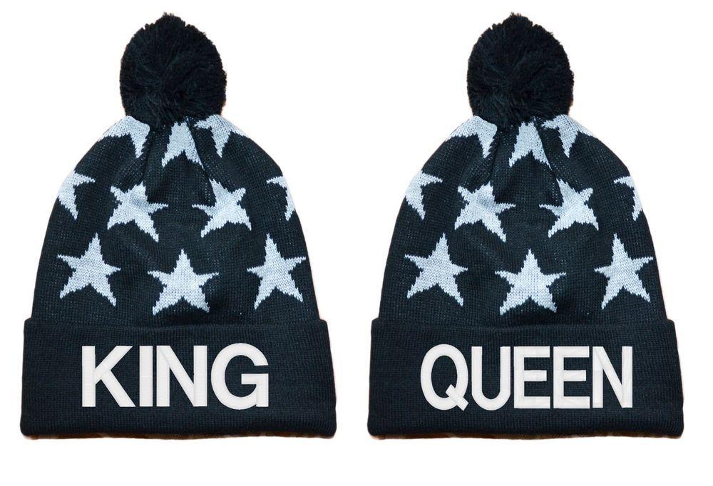 King Queen Beanie Knit Hat Swag Tumblr Boy Girl Dope  Beanie  173a9eb63456