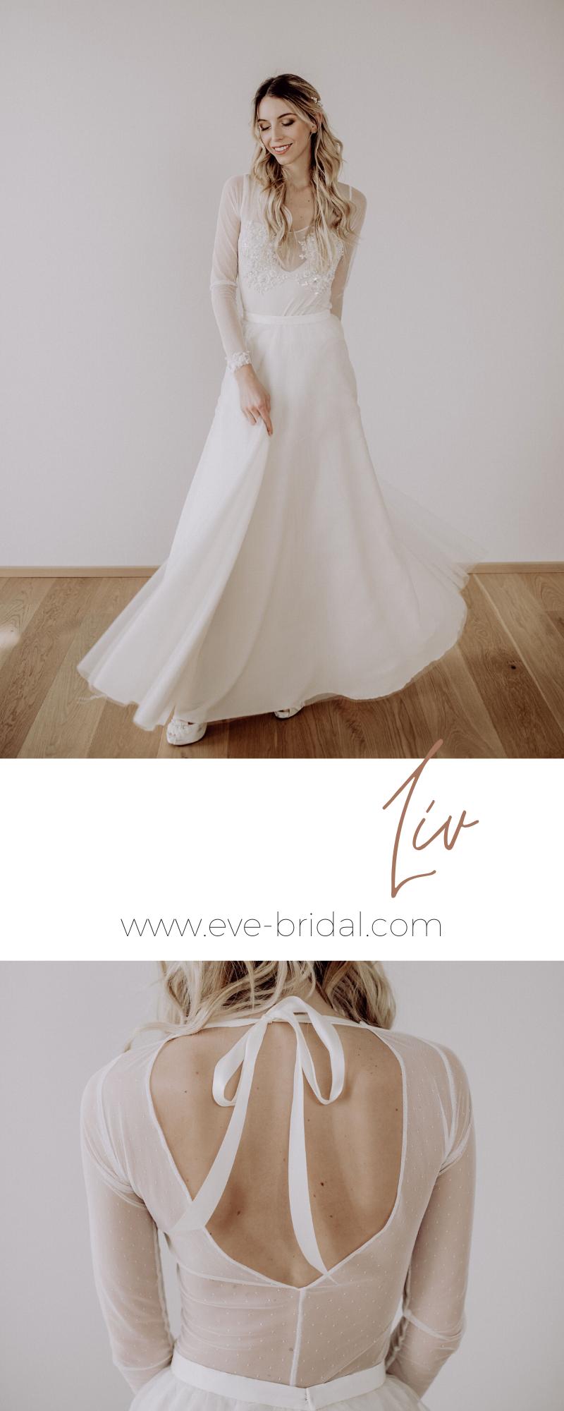 10-teiliges Brautkleid, Body mit perlenbestickter Spitze