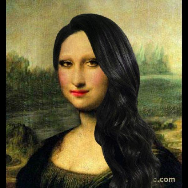 Mona Lisa goes to Merle Norman