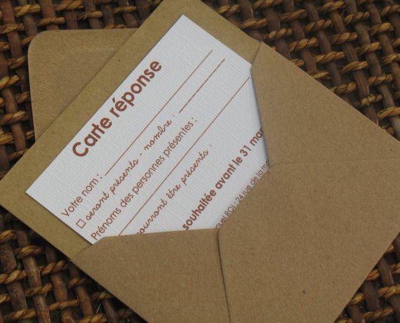 Carte réponse gamme |mariage champêtre chic|