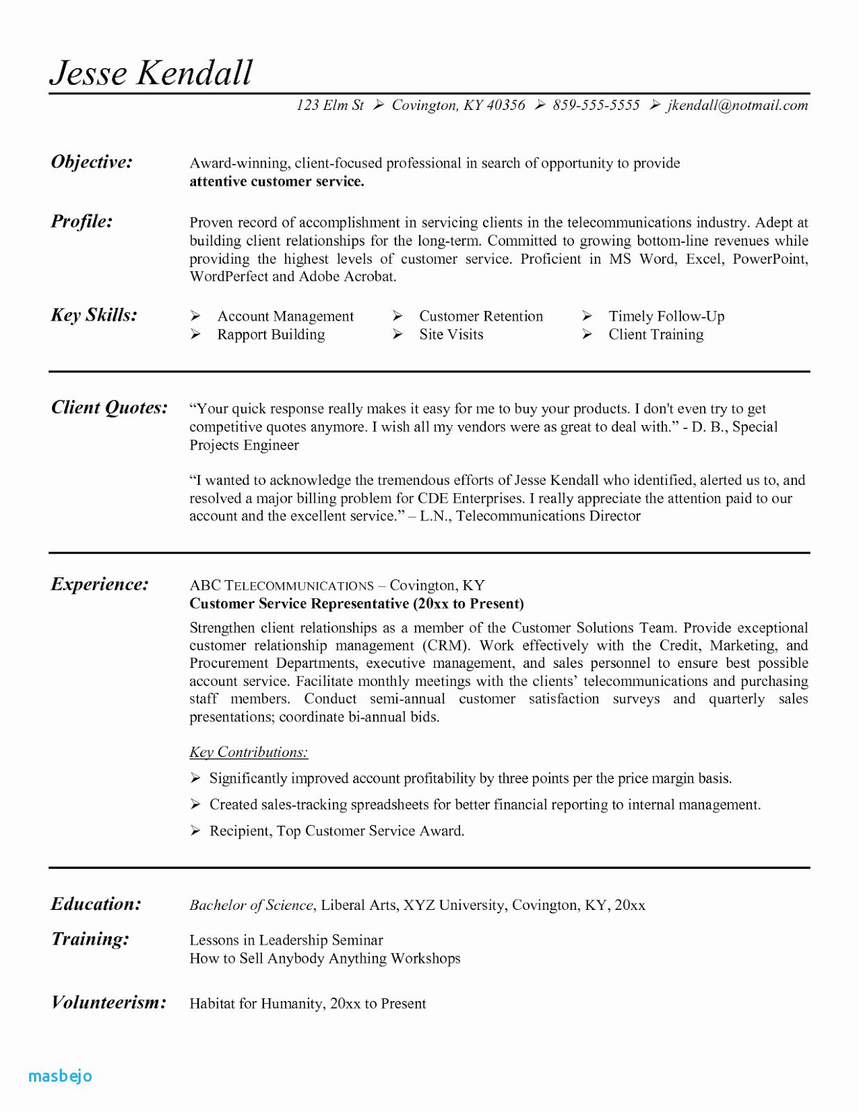 66 Best Of Photos Of Resume Summary Of Qualifications Examples