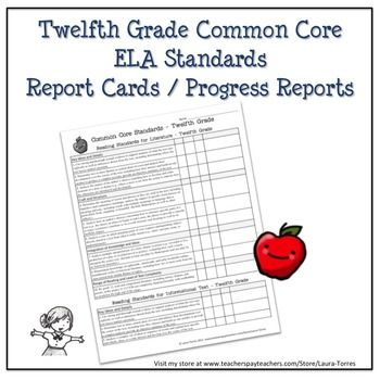 Twelfth Grade ELA Common Core Progress Report   Chart Common - avid tutorial request form