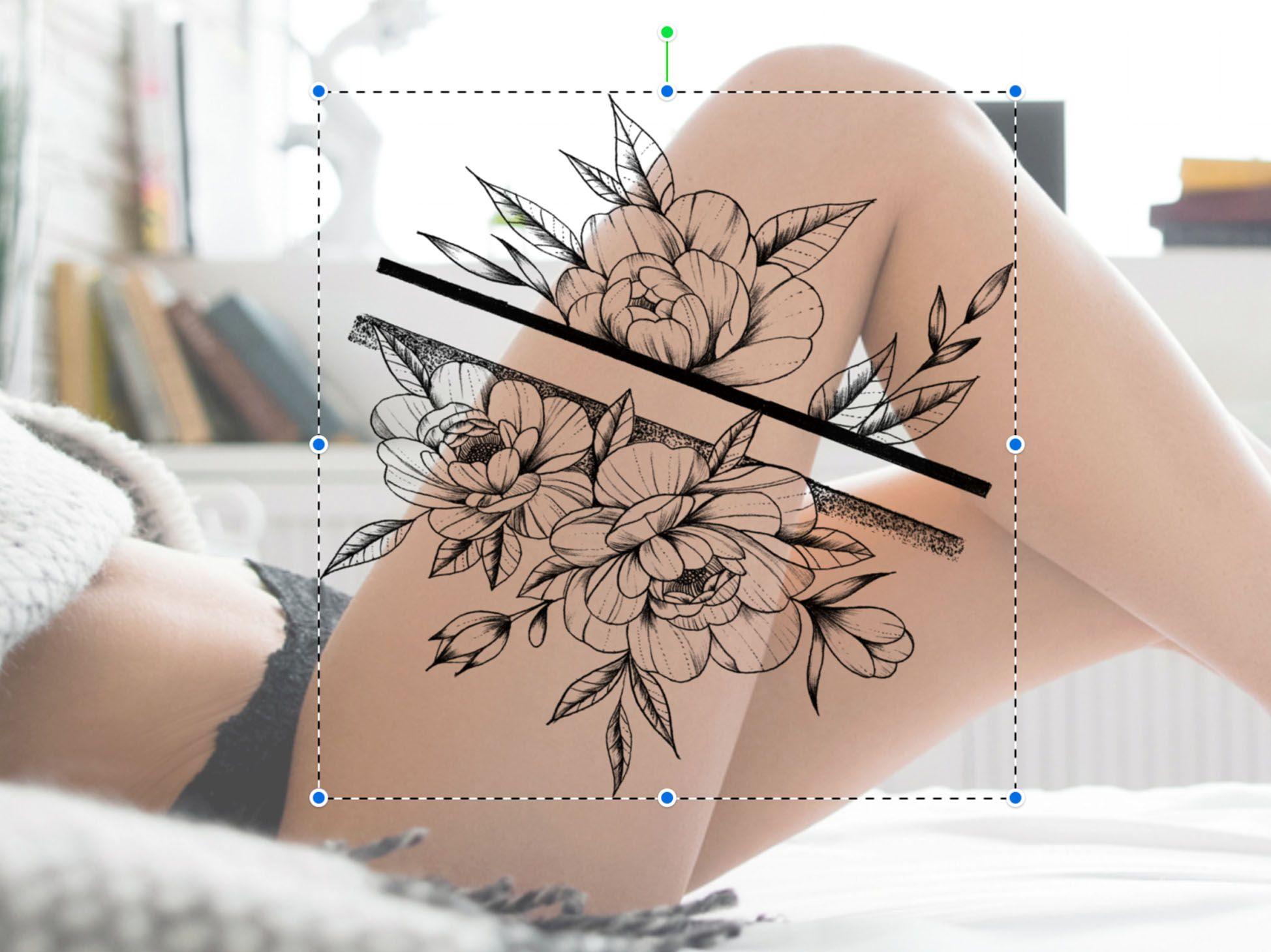 Peony tattoo set brushes for procreate tattoo set