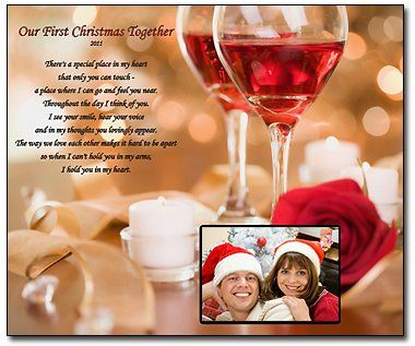 Our First Christmas Together 8x10 Poem Print You Add The Photo Gift For Husband Wife Boyfriend Or Friend 19 99