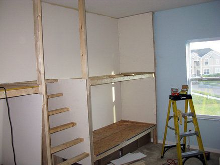 Built In Bunk Beds Step 2 Kid Or Guest Pinterest Bunk Bed