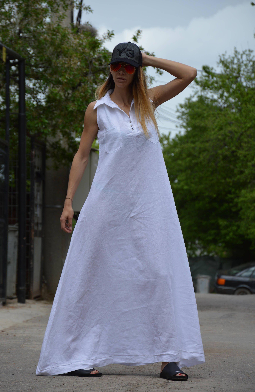 Summer Linen Dress Maxi Dress Plus Size Dress Plus Size Cotton Dress Women Dresses Elegant White Kaftan By Ssdfashion Maxi Dress Linen Maxi Dress Dresses [ 3000 x 1949 Pixel ]