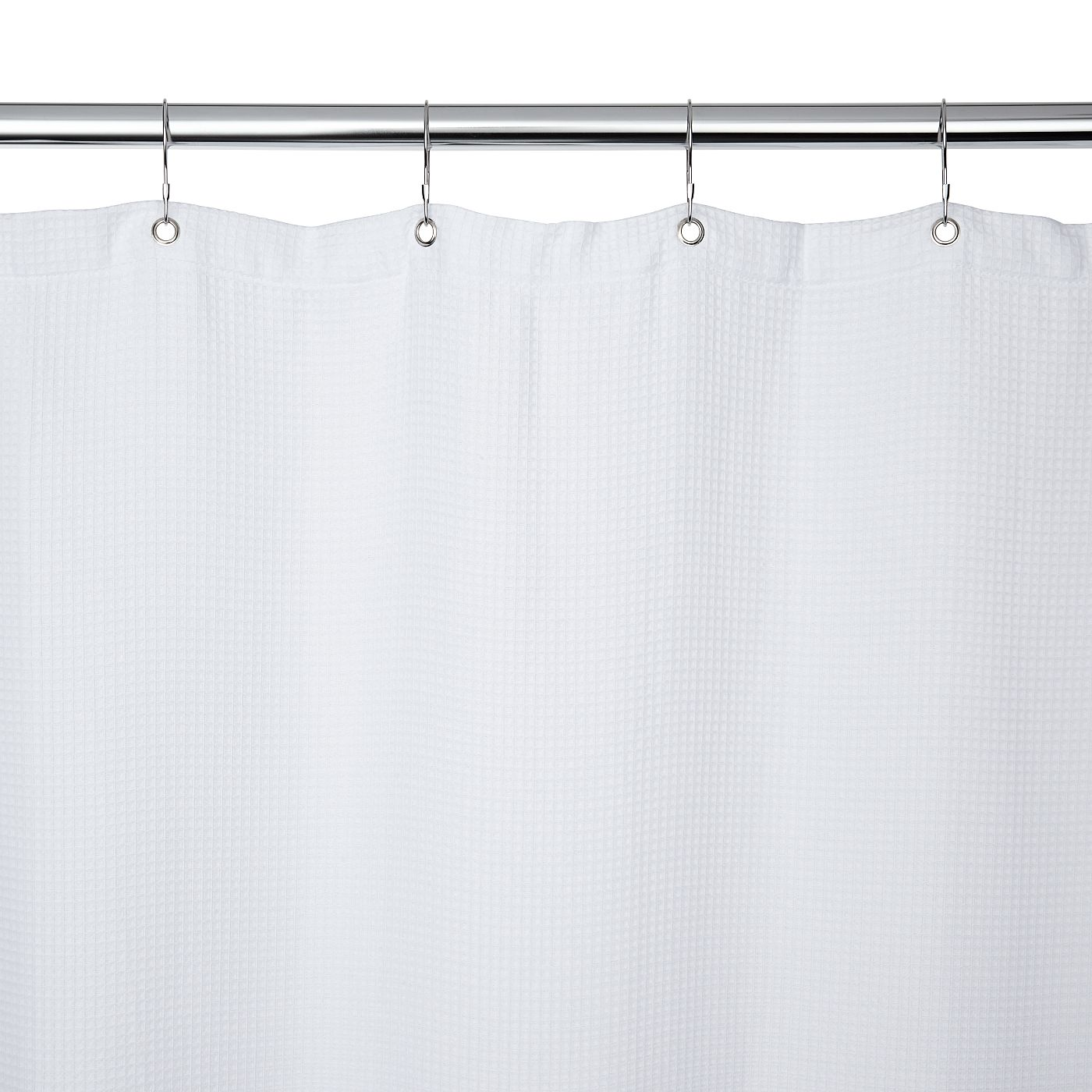 George Home White Waffle Shower Curtain Bathroom Asda Direct