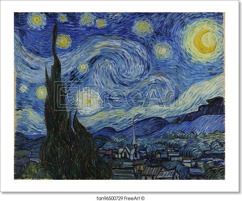 Free Art Print Of The Starry Night By Vincent Van Gogh Van Gogh Art Gogh The Starry Night Van Gogh Paintings