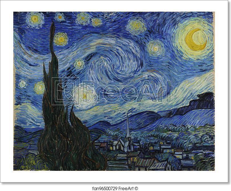 Free Art Print Of The Starry Night By Vincent Van Gogh Van Gogh