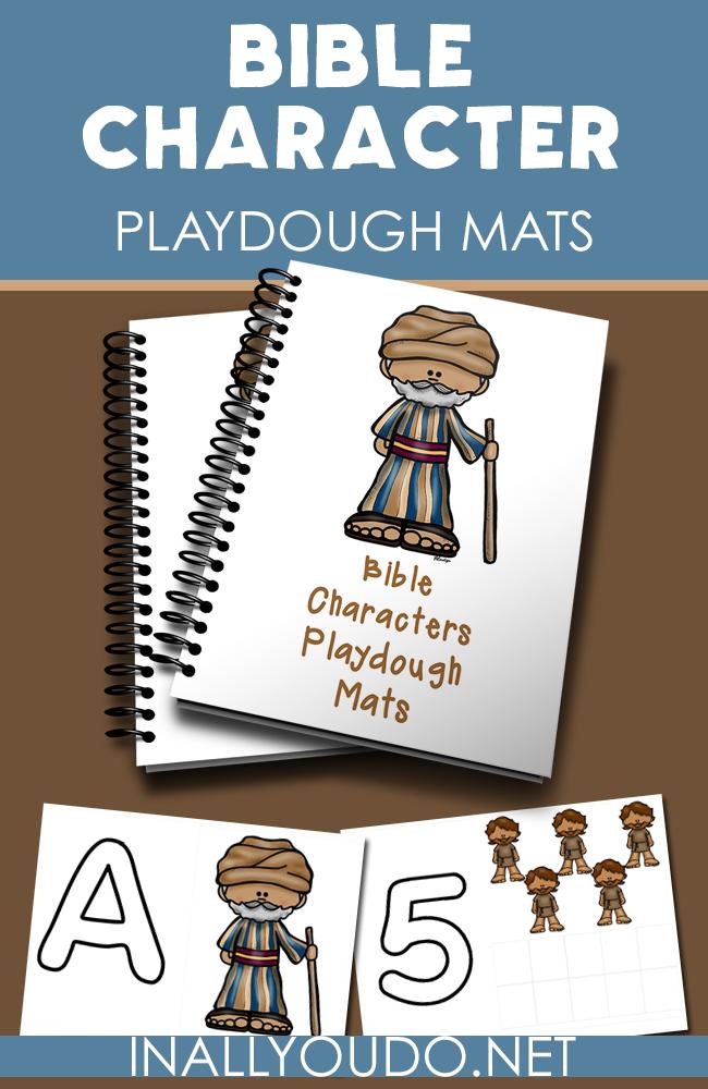Bible Characters Playdough Mats | In All You Do | Preschool bible