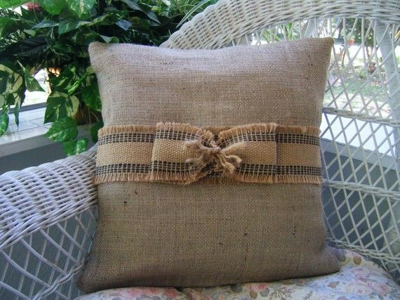 Burlap and jute pillow collection from better homes and - Better homes and gardens pillows ...