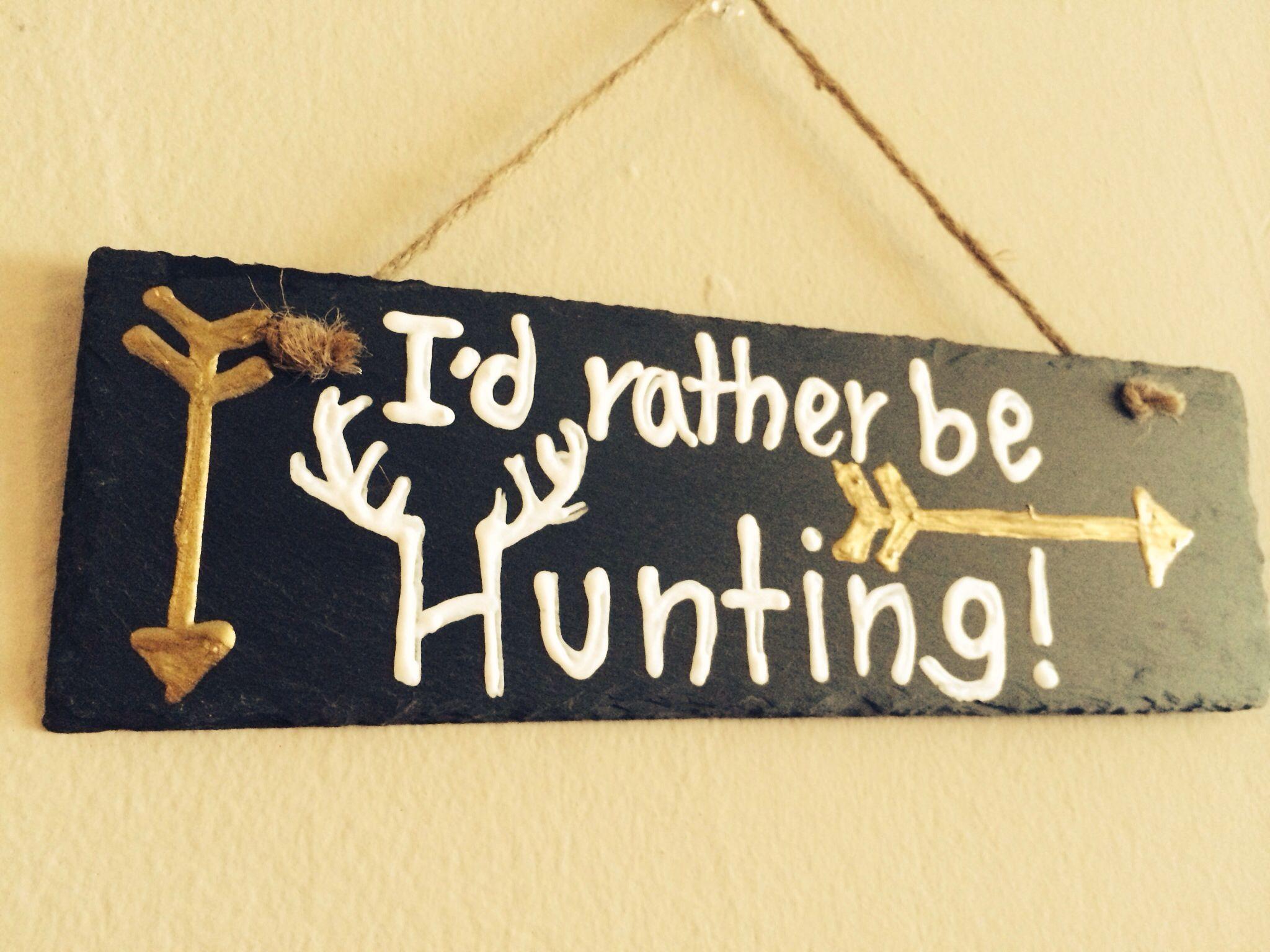 Slate Hunting Wall Decor