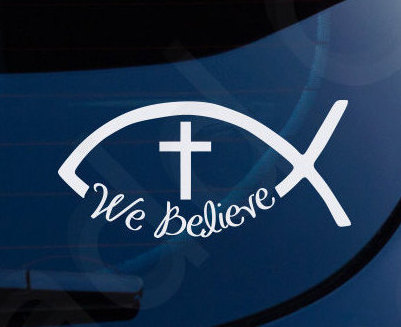 Walking in the Spirit Religious Car Auto Truck Window Vinyl Decal Sticker