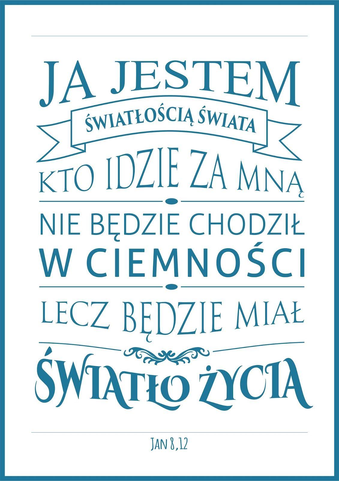 Plakaty Z Cytatami Z Biblii Biblia Bible Quotes