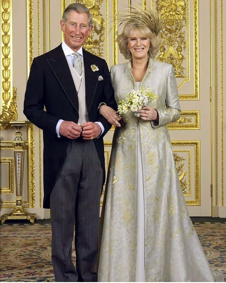 Official wedding picture of Prince Charles and Duchess
