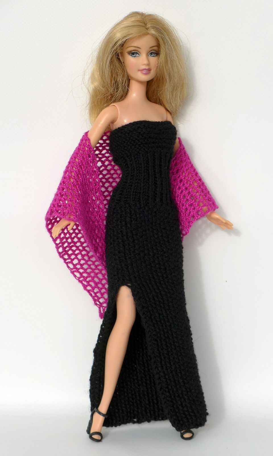 Photo of Knitting instructions: Long dress with slit for small dress …