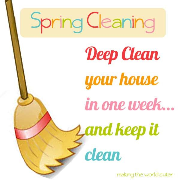 Spring Cleaning Deep Clean Your Whole House In A Week