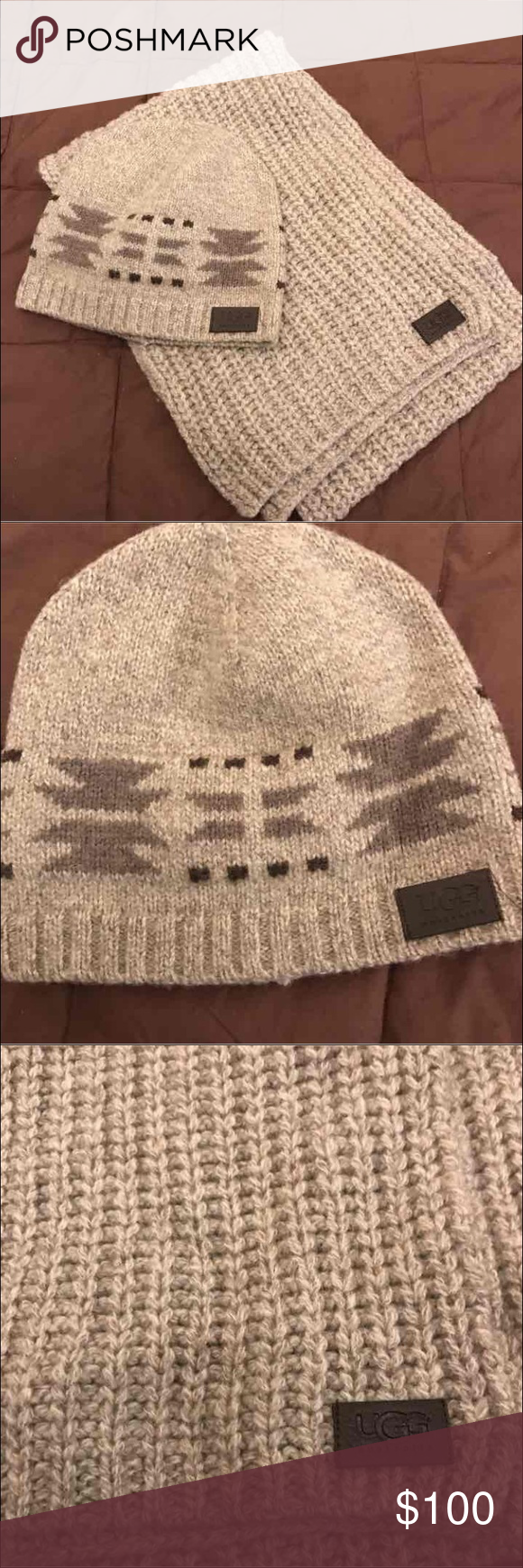 bdf94437b1b UGG HAT   SCARF SET Brand New without Tags. Thick wool scarf. Unisex.  64x10. PRICE FIRM UGG Accessories