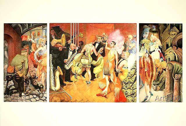 Otto Dix - Grossstadt (Triptychon), 1927/28