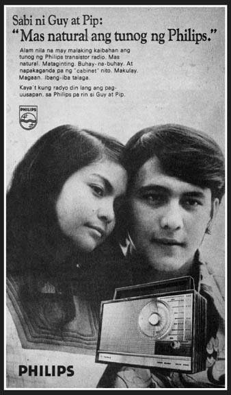 Guy & Pip in Philips Transistor Radio ad. 1970's