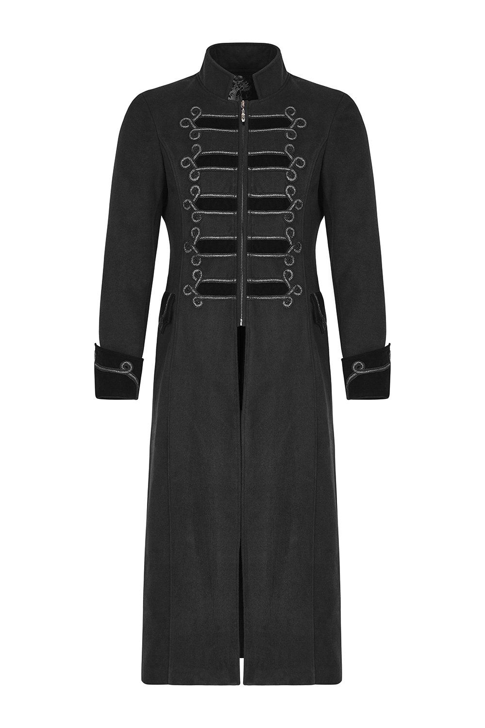 exquisite gorgeous long black gothic coat for men cheap on men s insulated coveralls cheap id=84590