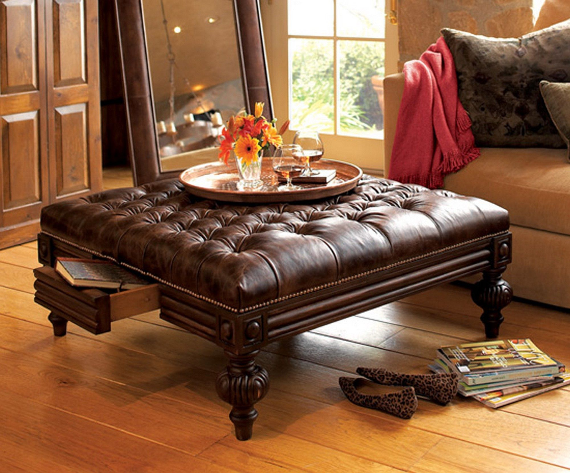 9 large round ottoman coffee table collections di 2020