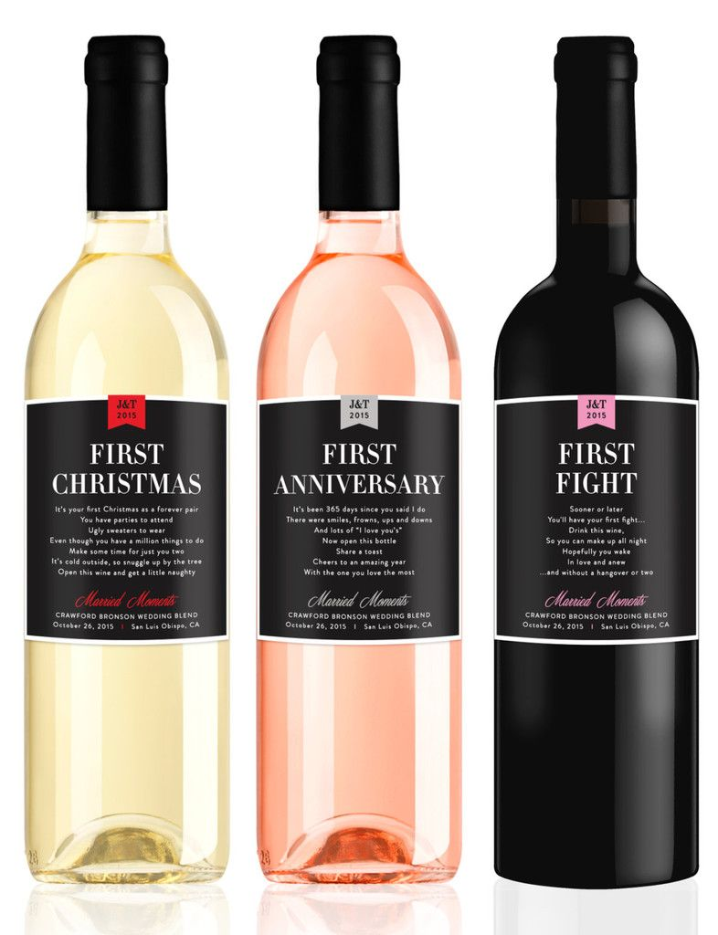 Milestone Wine Labels 15 Sentimental Wedding Gifts For The