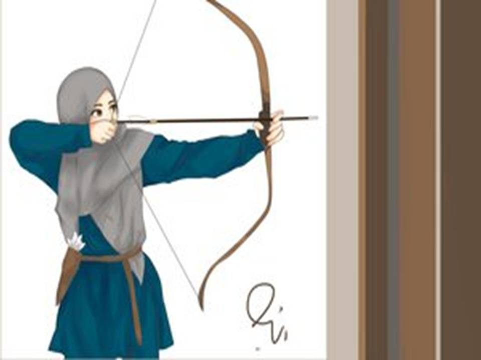 76 Gambar Animasi Wanita Bercadar Memanah