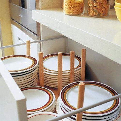 Schubladen Küche einräumen Teller aufbewahrung Küche Pinterest - organisation kuchen schubladen