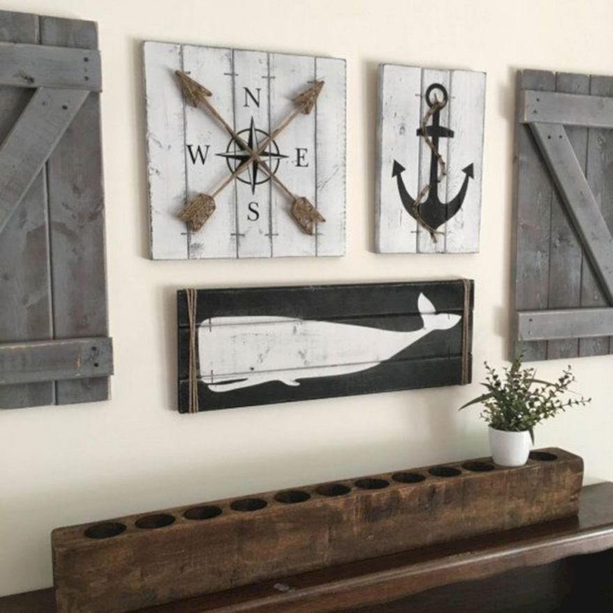 Rustic Nautical Wall Decor Rustic Nautical Wall Decor Design Ideas And Photos In 2020 Rustic Coastal Decor Wall Decor Design Nautical Wall Decor
