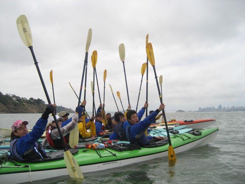 Looks like fun kayaking with environmental traveling