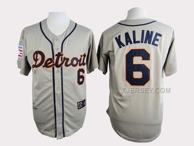 http://www.xjersey.com/tigers-6-kaline-grey-throwback-jersey.html Only$34.00 TIGERS 6 KALINE GREY THROWBACK JERSEY Free Shipping!