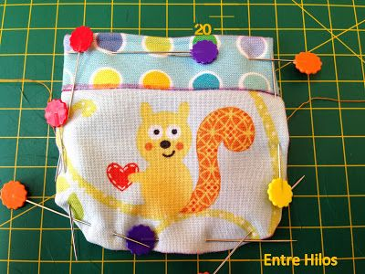 Entre Hilos: Tutorial: Como hacer y coser un bolsillo