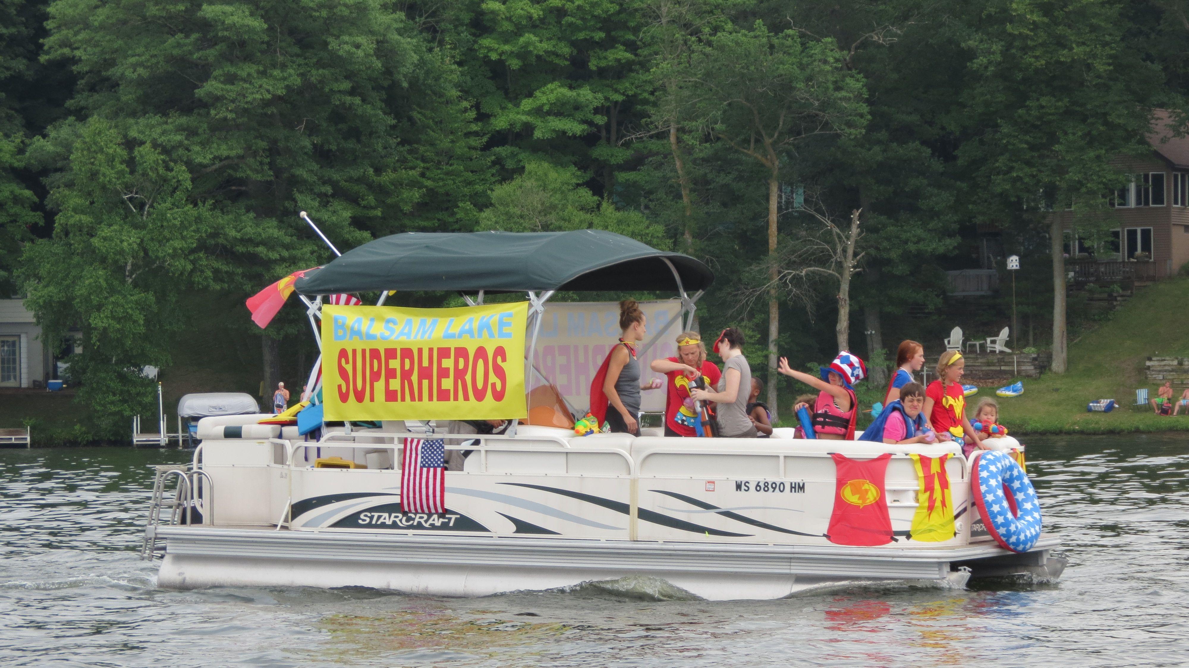 Fourth Of July Boat Parade Boat Parade Lake Boat Pontoon Boat