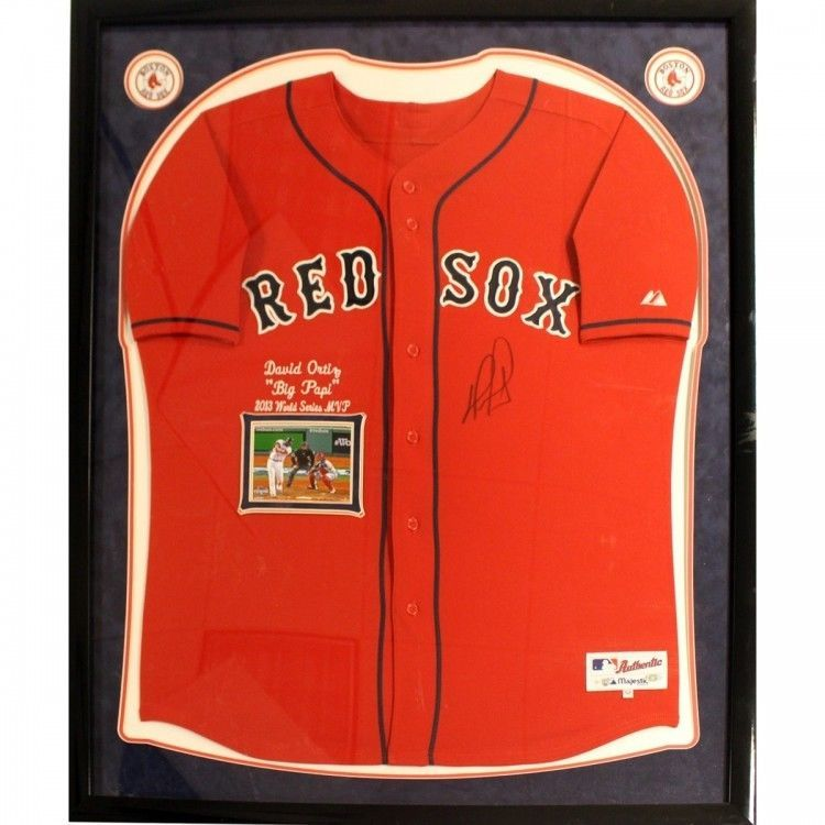 Framed Jersey David Ortiz Big Papa Boston Red Sox Certificate of ...
