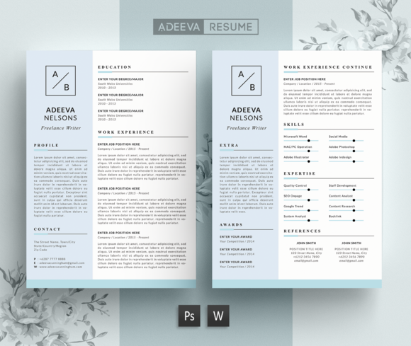 Simple Resume Template Nelson Creativework  Resume Templates
