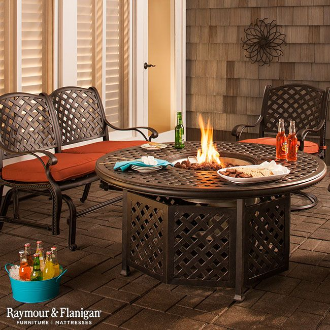 Moreaux 4 Pc Fire Pit Dining Set Fire Pit Dining Set Fire Pit Round Coffee Table