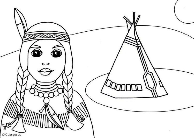 Dibujo para colorear Indio | manualidades | Pinterest | Nativity ...