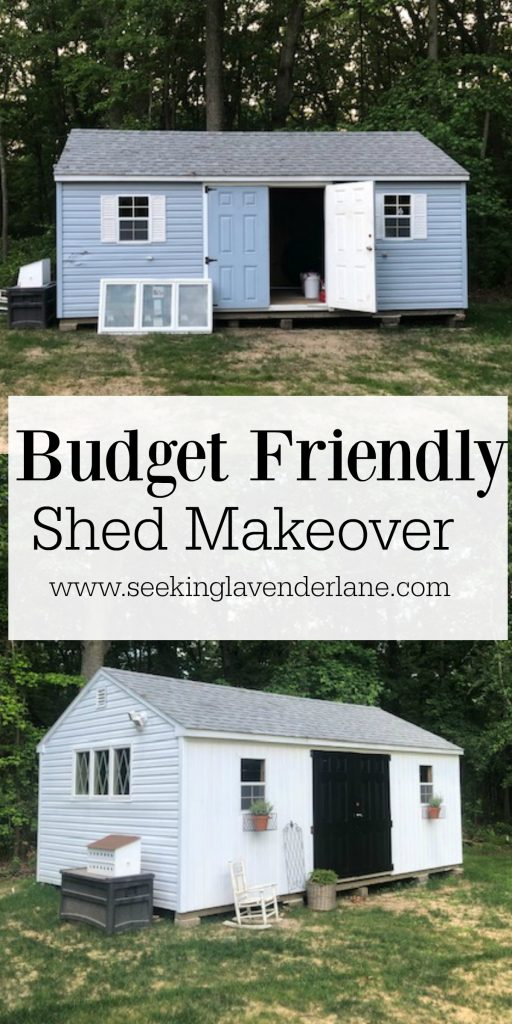 Shed Makeover Painting Vinyl Siding Seeking Lavender Lane In 2020 Shed Makeover Painting Vinyl Siding Shed