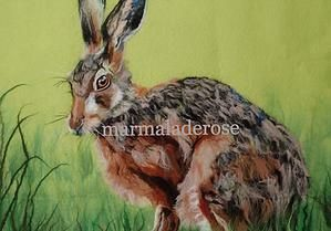 marmaladerose 'Hare 2', wet felted wool art