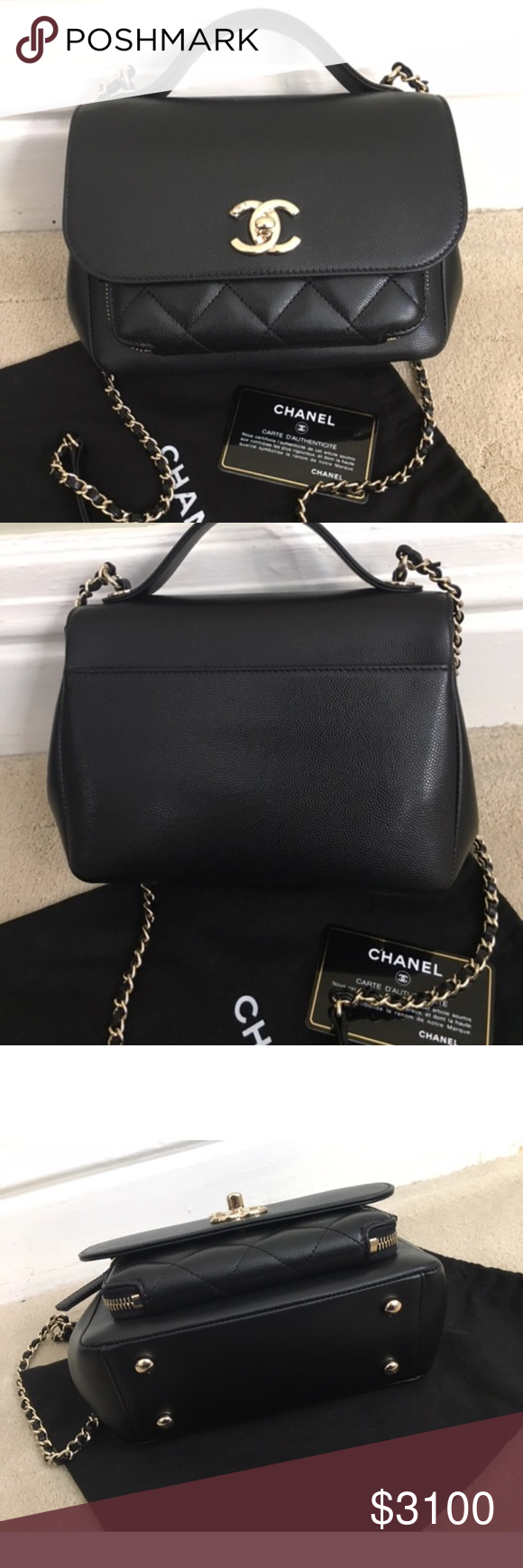 cbbb3f74270ca9 Authentic Chanel small black business affinity Up for sale is the Chanel  Business Affinity tote in