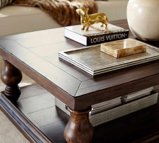 Lorraine Coffee Table Small Rustic Brown Lorraine Coffee Table - Square coffee table pottery barn
